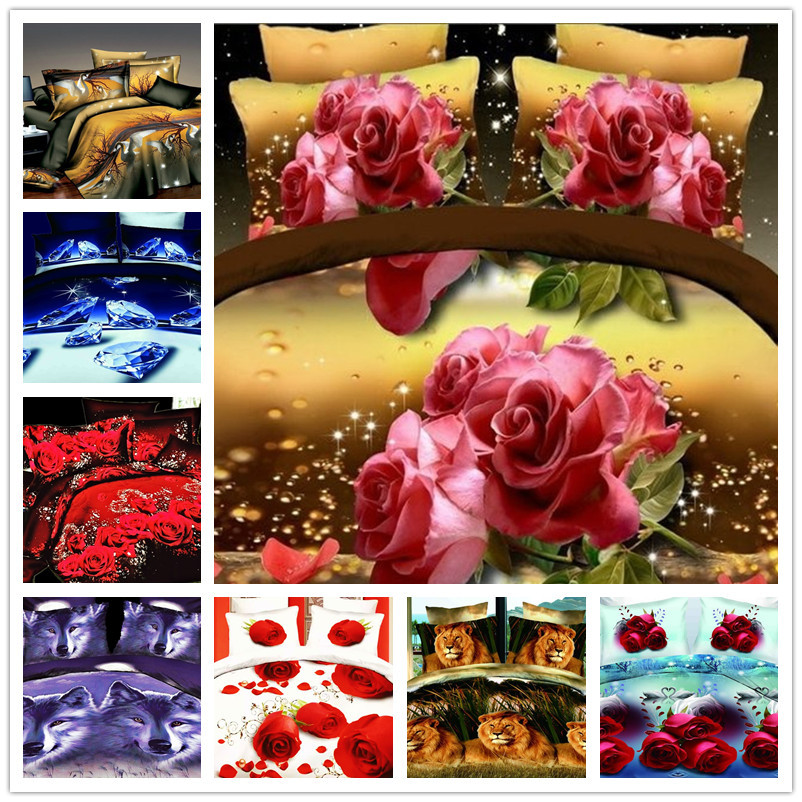ANN new fashion 3d bedding set christmas queen size luxury bedding-set roupa de cama duvet cover bed set comforter bedclothes(China (Mainland))