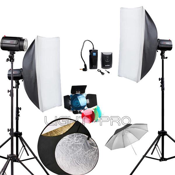Godox 360Ws GODOX 3 x 120Ws Pro Photography Photo Studio Strobe Flash Light with Softbox Umbrella Reflector 360W Kit<br><br>Aliexpress