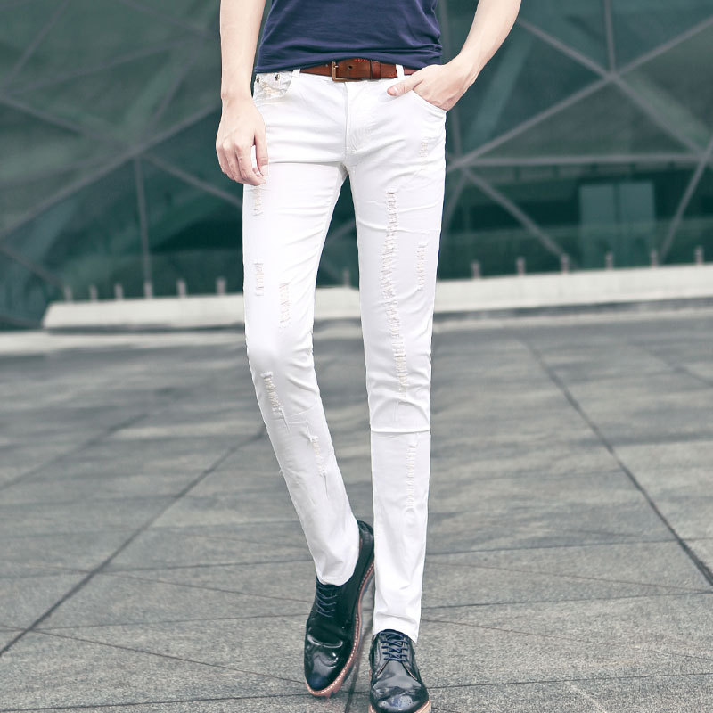 Mens White Casual Trousers White Trousers Men