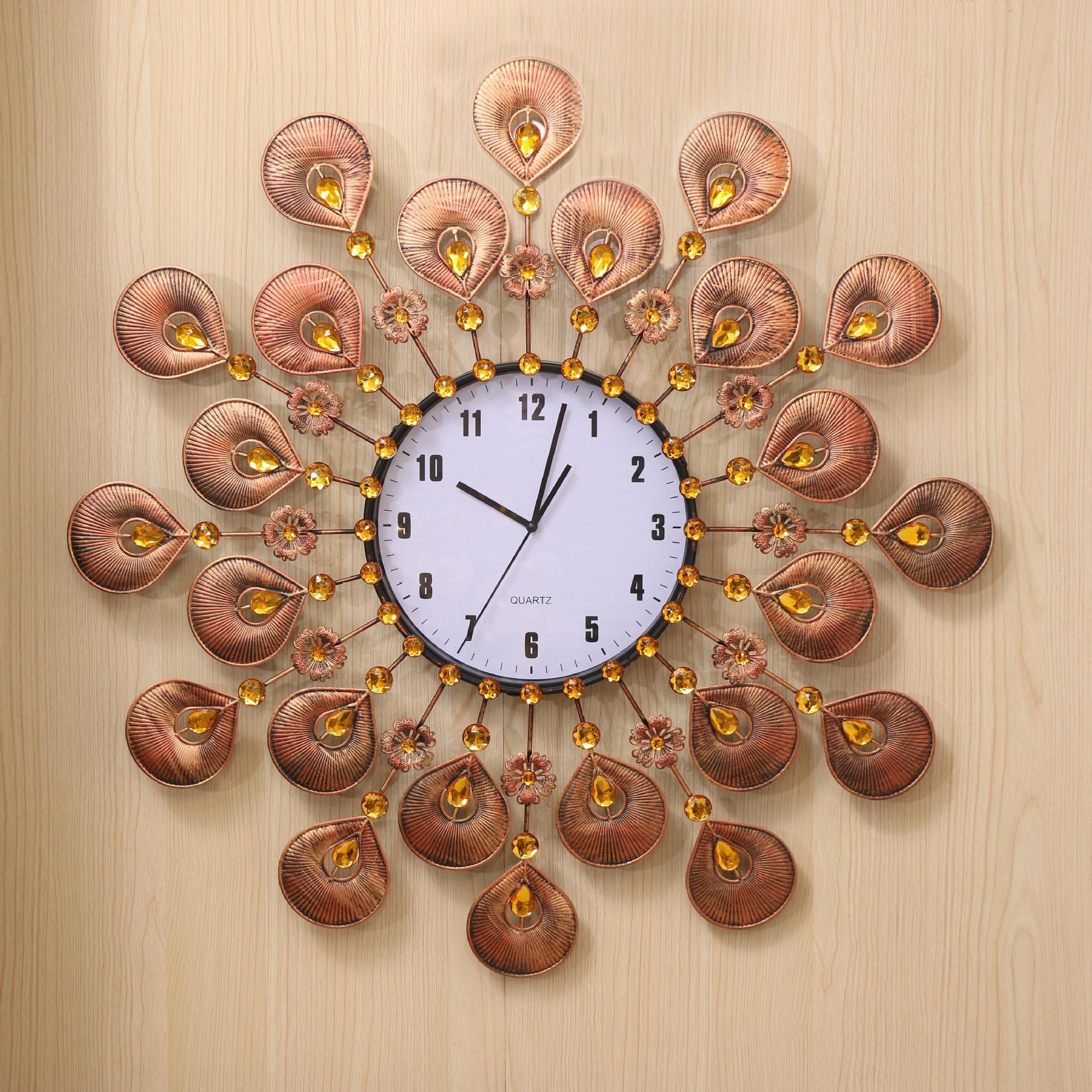 Achetez en gros horloge murale en bronze en ligne des for Decoratives from waste