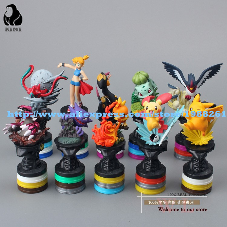Free Shipping font b Anime b font Cartoon Pokemon Pikachu PVC Action Figure Collection Model Toys