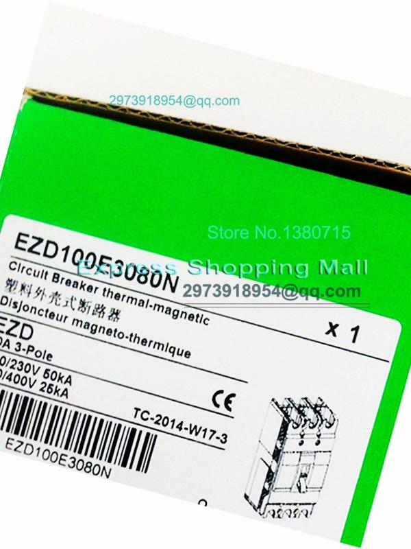 Фотография New EZD100E 3P 80A EZD100E3080N Plastic Breaker