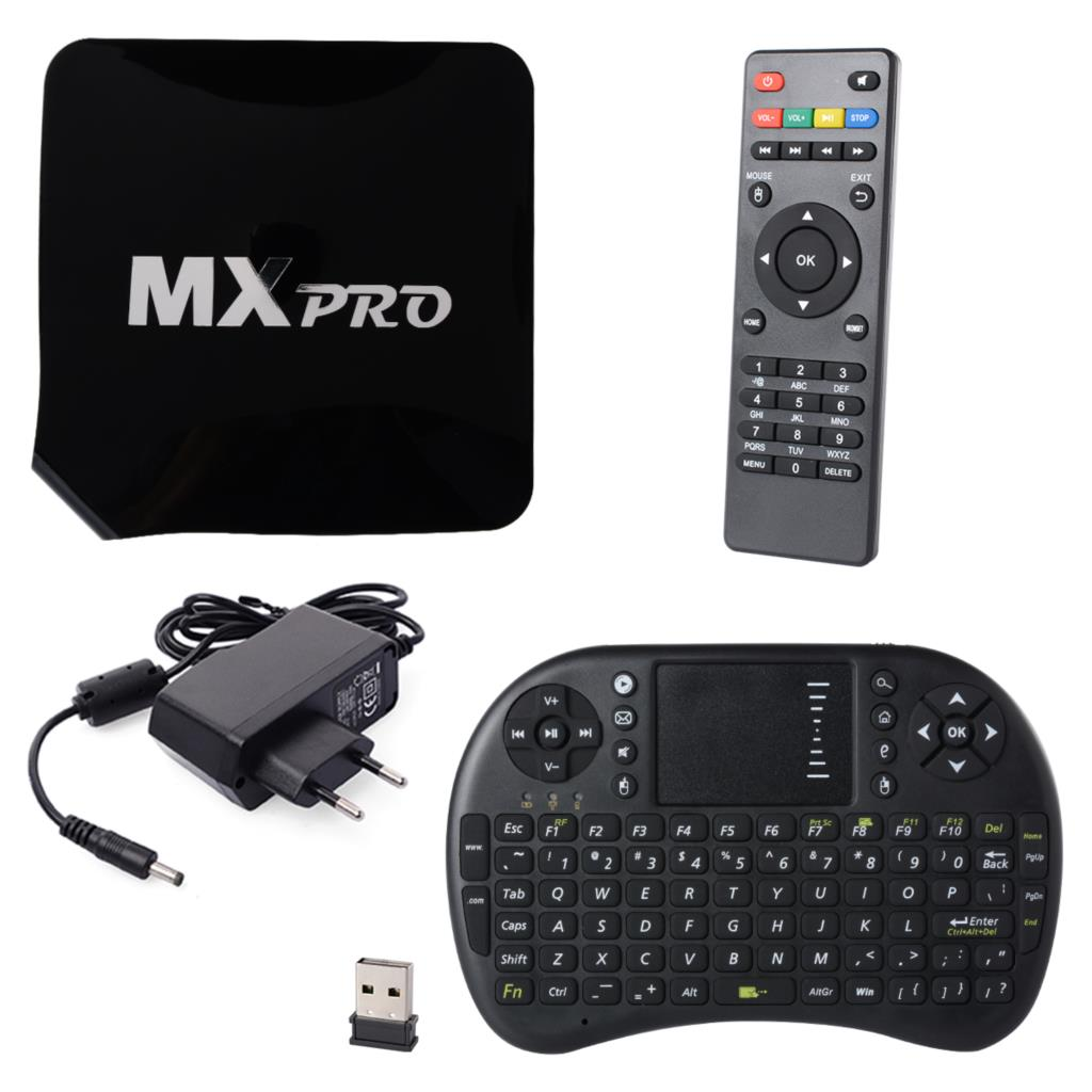 Android TV Box Quad core+2.4GHZ Wireless Touchpad Keyboard media player mini pc for smart tv 4K Set top box AH014+(China (Mainland))