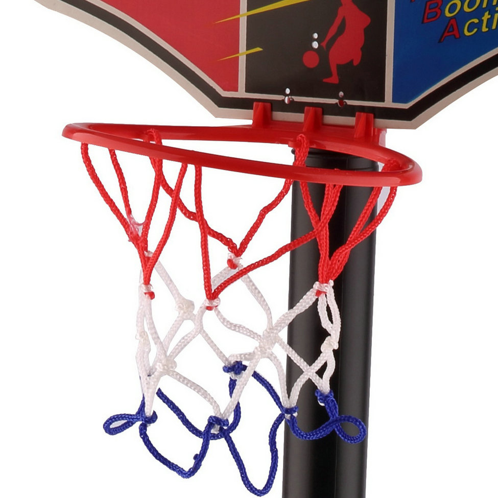 OCDAY Kids Sports Portable Inflation Basketball Toy Set with Stand Ball & Pump Indoor & Outdoor Fun & Sports Toddler Baby New(China (Mainland))