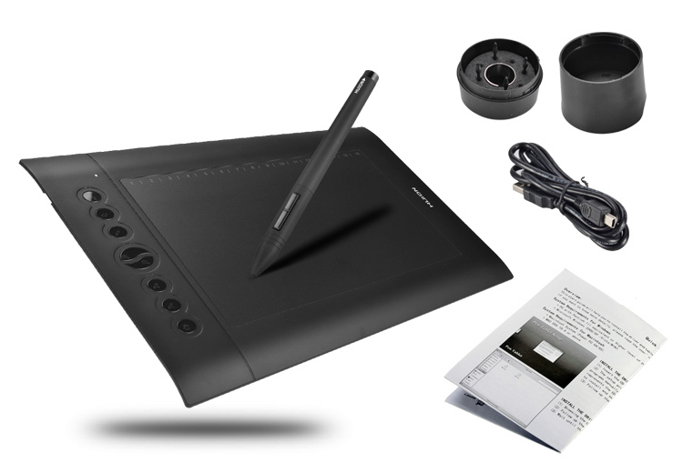 "Wholesale 5080 LPI Resolution 2048 Levels Art Graphics Drawing Tablet 10""x6.25"" With Best Gift- Huion H610 PRO(China (Mainland))"