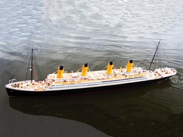 RC Model boat RTP Titanic 1/300th Scale ARTR with DC-380 motor Electric boat(China (Mainland))