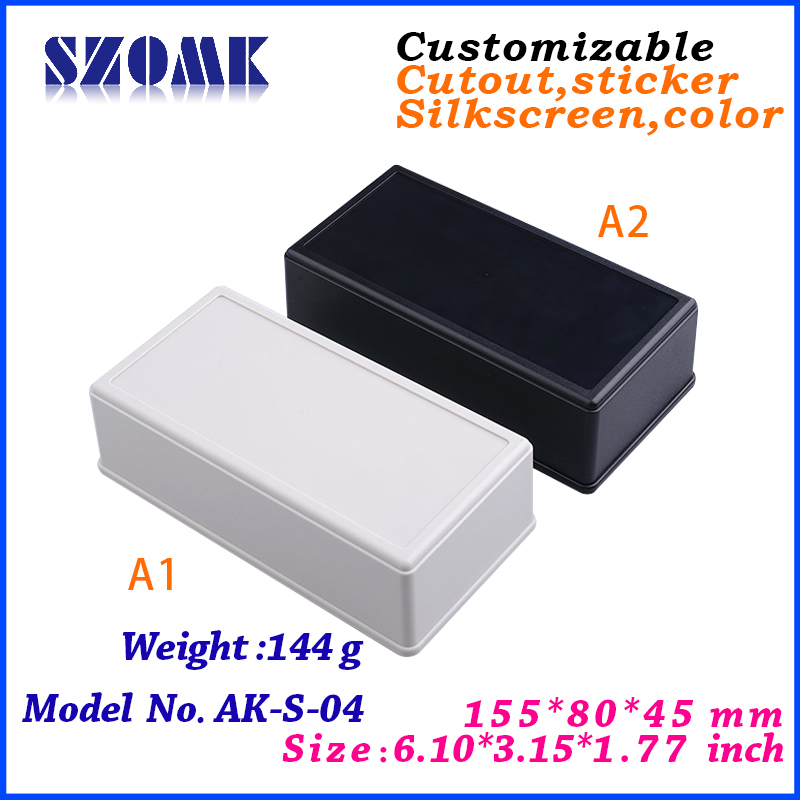 free shipping plastic enclosure project box (1 pcs) 155*80*45mm abs plastic junction box abs swith housing for pcb board<br><br>Aliexpress