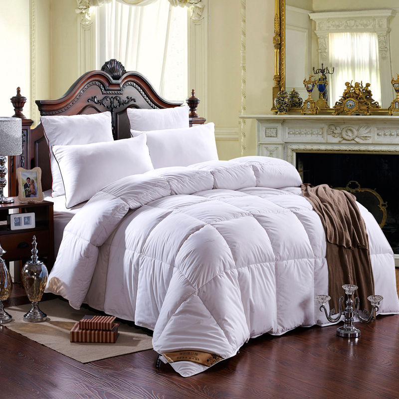 100% cotton quilt cover with duck down comforter warm and confortable duvet twin/full/queen/king size(China (Mainland))