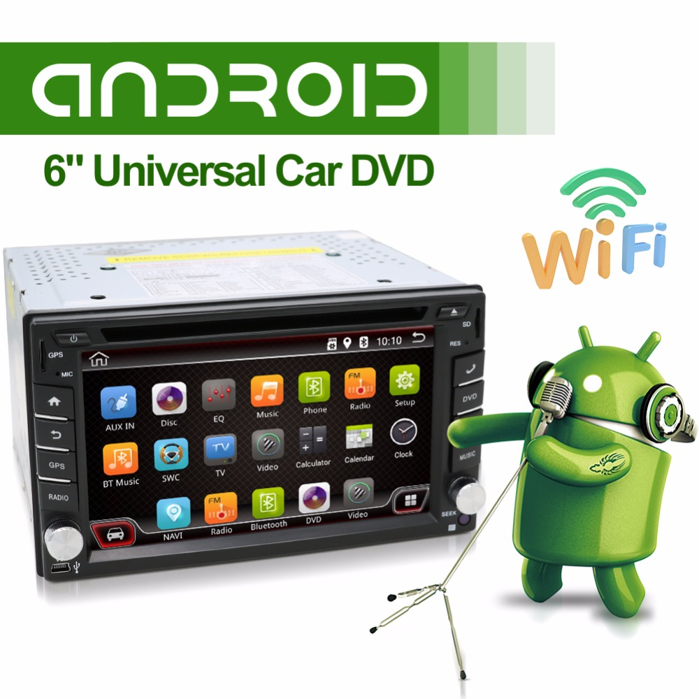 2din android 4.4 Car DVD GPS Navigation Car Stereo Radio Car GPS 3G Wifi Bluetooth USB/SD Universal Player(China (Mainland))