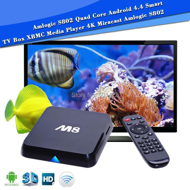 Amlogic S802 Quad Core Android 4.4 Smart TV Box XBMC 4K Miracast Media Player 8G/2G TV BOX Free Shipping<br><br>Aliexpress
