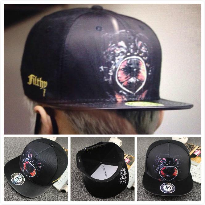 Trend Women Men Snapback Letter Baseball Cap Dancing Hip Hop Caps Bboy Kpop Fashion Visor Dog Hat Adjustable BC-535(China (Mainland))