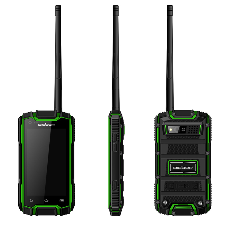 Guophone DIGOOR DG1 Plus 3G Smartphone walkie-talkie MTK6582 Quad Core GPS Cellphone IP68 Dustproof Shockproof Mobile Phone(China (Mainland))