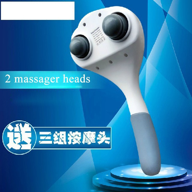 2014 new design hand Held massager electric vibration massager body relax muscle therape massager with 6 pcs head free shipping(China (Mainland))