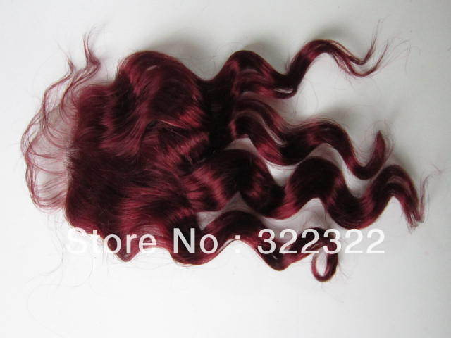 12inch 3.5x4 99j# color top quality indian hair swiss lace top closure free shipping<br><br>Aliexpress