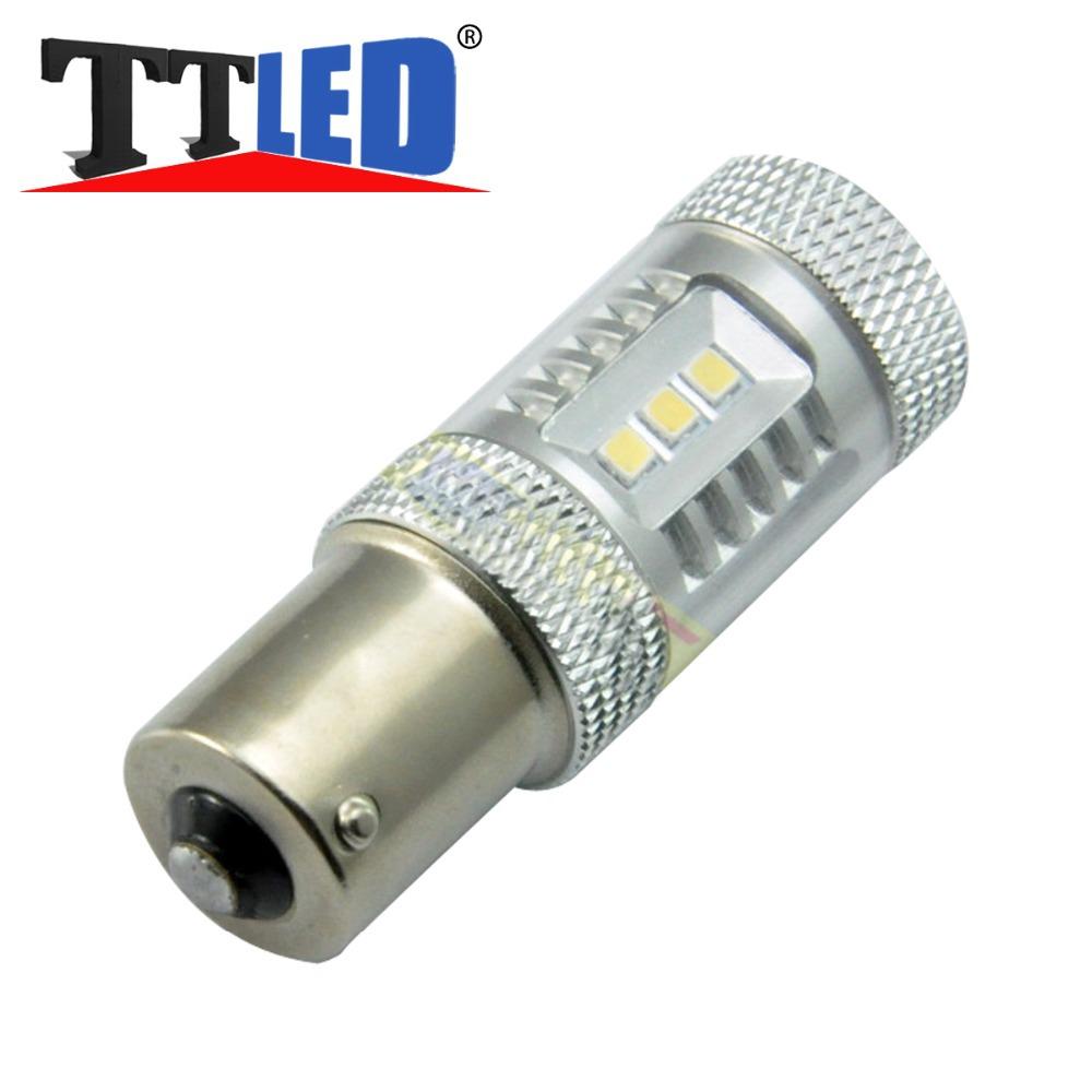 1156 2323 Cree LED BA15S For Samsung High Power LED 15 SMD With Lens Car Auto LED Brake Light Turn Signal bulb DRL Lamp #TF58(China (Mainland))