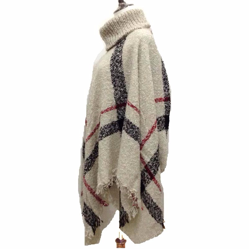New women plaid dress blanket viscose shawl scarf poncho and capes casaco feminino fall winter thicker scarves for party wedding