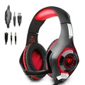 Beexcellent GM 1 3 5mm Game Gaming Headphone LED Light Over Ear Headset With Volume Control