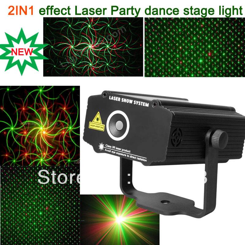 2015 new version Mini 2in1 effect R&G Audio stars Whirlwind Laser Projector Stage Disco DJ Club KTV family party light SHOW p14(China (Mainland))