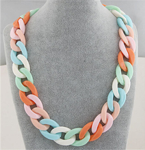 Buy Statement Chunky Long Chain Necklaces & Pendants Boho Colorful Chain Colar Collar Necklace Women Summer Style Accessories for $1.50 in AliExpress store