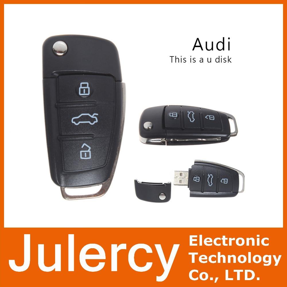 Audi Car Key USB Flash Drive Pendrive 8GB 16G 32G Memory Stick Pen Drive U Disk for Popular Gift Real Capacity Free Shipping(China (Mainland))