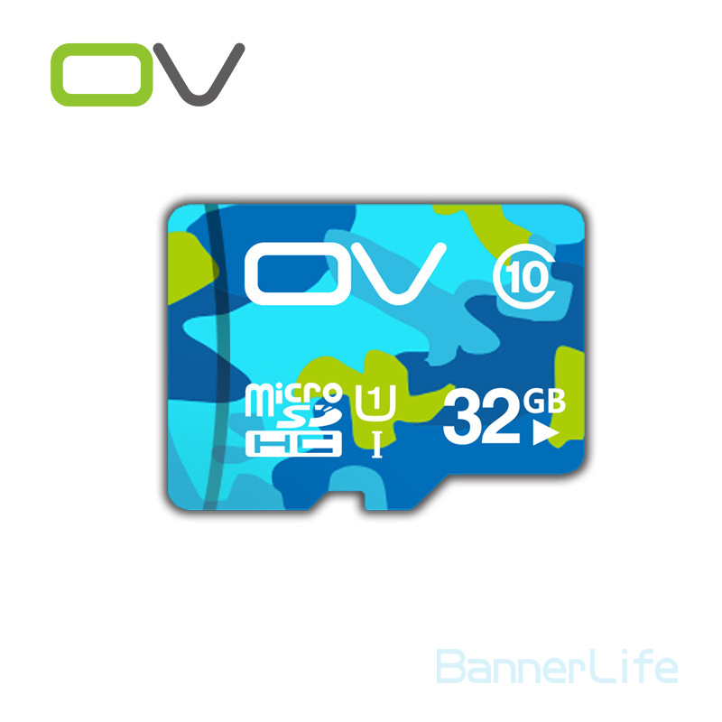 2PCS/LOT OV Colorful Memory Micro SD Card 32GB Class 10 UHS-1 TF Carte Microsd Flash Card SDCard for Mobile Phone Smartphone MP3(China (Mainland))