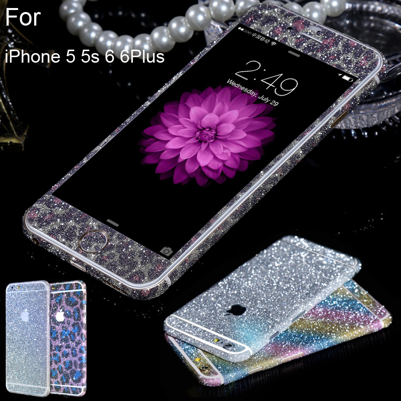 Fashional Diamond crystal stone Glitter Bling full Body Decals/Sticker/Protector case for iPhone 5 5s 6 6s 6plus(China (Mainland))