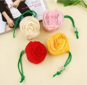 Utility derlook exquisite rose shopping bag folding shopping bag eco-friendly bag small appliances(China (Mainland))