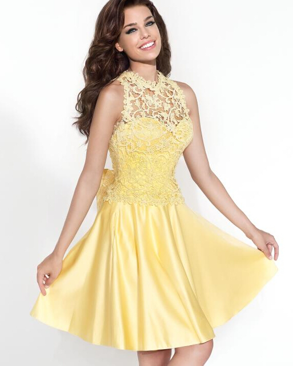 Yellow Homecoming Dresses 2016 24