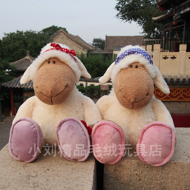 Super cute 1pc 50cm cartoon nici dolly sheep couple funny lover plush hold doll hold pillow stuffed toy children boy girl gift(China (Mainland))
