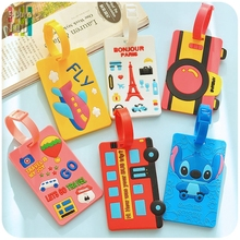 HotPopular Luggage Tag Recognizable Silicone PVC Soft 3D Cartoon Lovely Suitcase Cover Label For Mixproof Security Free Shipping(China (Mainland))
