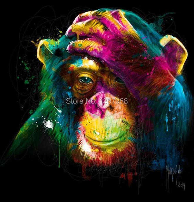 patrice murciano Origi... Colorful Lion Paintings