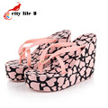 High Heel Sandals Platform Shoes Summer Sandals Non Slip Beach Flip Flops Women Slippers Wedges 11cm