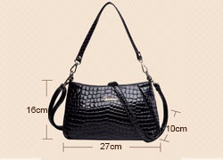Embossed  PU Leather Shoulder Bag Women Snake/Crocodile/Leopard Printing Hand Bag Ladies Classic Stylish Handbag Crossbody Bag