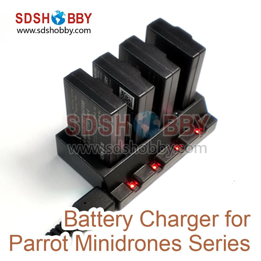 Parrot Minidrones Series Parallel Battery Charger Adapter Parallel Charging Board Plate for Parrot Rolling Spider/ Jumping Sumo