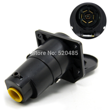 Tirol 7Pin TrailerSocket 7 Way Round Trailer RV Light Plug Connector Female 12V Tow bar Towing Vehicle End T21848d(China (Mainland))