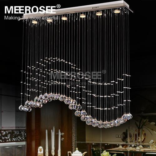 Rectangle Crystal Chandelier Light Fixture Crystal Curtain Wave Lamp for Ceiling Dining Room Prompt Shipping 100% Guanrantee(China (Mainland))