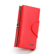 2015 Korean version of a snap wallet Ms. wallet long section of metal frame wallet purse holding(China (Mainland))