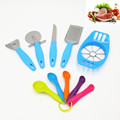 10pcs kitchen Accessories Cooking Tools Set Cheese Slicer Paring Knife Pizza Cutter Grater Apple Cutter Measuring