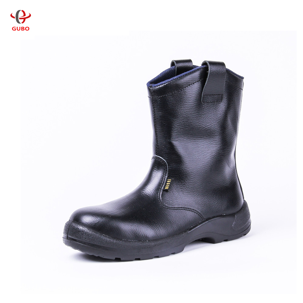 2015 New Fashionable Men High Quality High Top Business Work Shoes Black Breathable Safety Boots ...