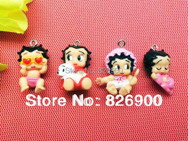 12 Betty Boop (Baby) Charm Pendant Figurine (12 pieces) DIY Accessories ABB916 Wholesale(China (Mainland))