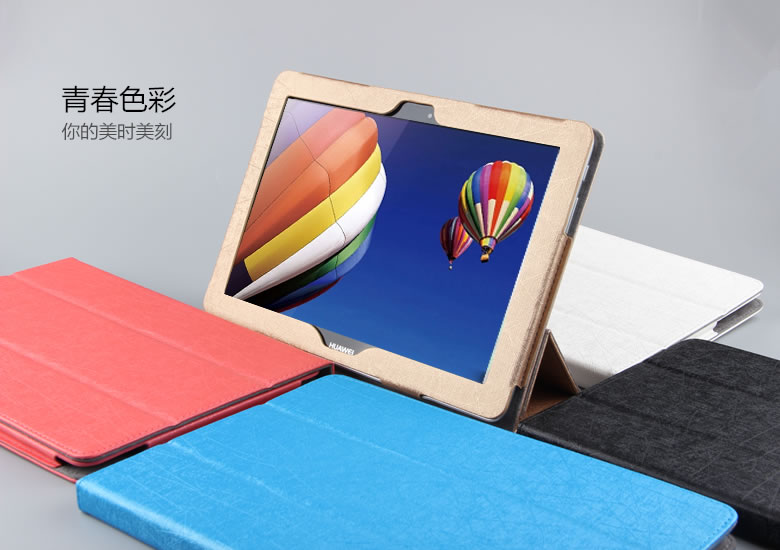 3 in 1 New Fashion Pu Leather Case Stand Cover For huawei Mediapad 10 link Tablet PC + Stylus + Screen Film<br><br>Aliexpress