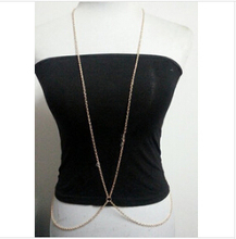 New Arrival Fashion sexy golden plated body chains jewelry for women E shine Jewelry T2219