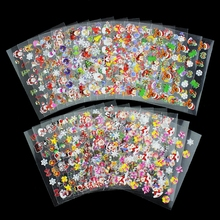 Top Nail 24 Pcs Lot Beauty Christmas Design Bronzing Nail Art Sticker Decals 3D Manicure Stamping
