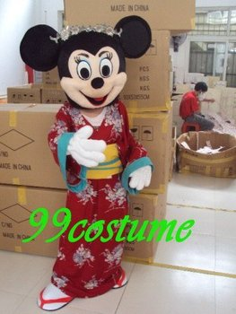 Free Shipping Adult Size Red Skirt Minnie Mouse Cartoon Cosplay Mascot Costume Cosplay Christmas Hallowmas Party Dress