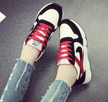 Korean Style Women Shoes Height increasing Women Sneakers Mixed Colors Wedge Sneakers For Women Sport Shoes