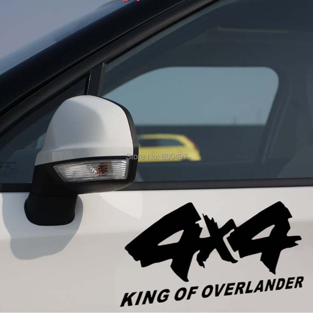 4 x 4 King of Overlander Car Sticker Car Reflective Decal for 4x4 AWD Toyota Chevrolet