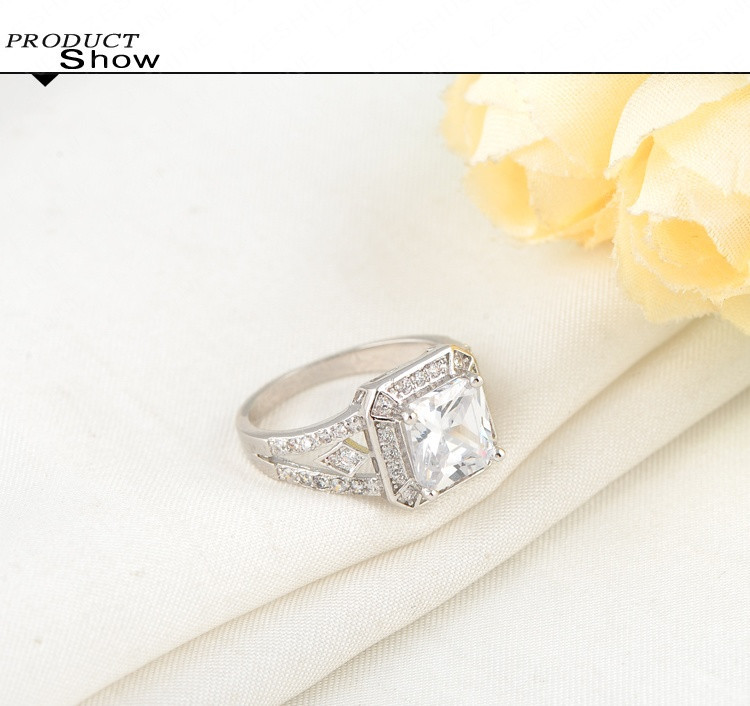 Big Promtion Exquisite 18K Золото/Platinum Plated Clear AAA Swiss Cubic Zircon Inlayed Couple Knuckle Rings CRI0016