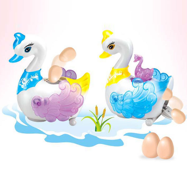 free shipping baby toys Electric universal light and sound early childhood educational swan lay eggs 0-1-2 years old toy(China (Mainland))