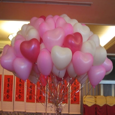 100pcs/lot 2g 12inch Festa Balloon Birthday Party Baloons Aniversario Decorations Air Balloons Love Heart Shape Bola(China (Mainland))