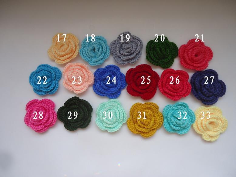 DIY rose flower Crochet manual hook Wool baby clothing hats accessorie hair headwear garment accessories 50mm - Mairy Mairy's store